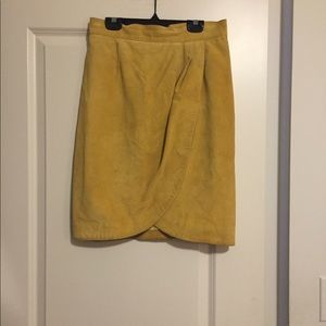 Danier suede wrap style skirt.